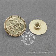 Épinglette ronde argentée, insigne organisationnel (GZHY-LP-016)