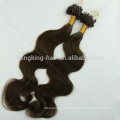with line i tip hair 100% human remy double drawn micro loop hair