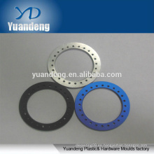 CNC de encargo del OEM anodizó las arandelas de aluminio rojas anaranjadas azules azules etc.