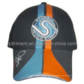 100% Cotton Twill Insert Piping Embroidery Baseball Cap (TM0920)