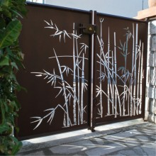 Custom Laser Cut Metal Gates