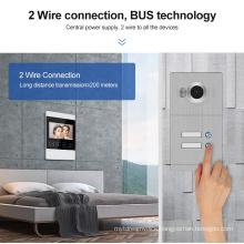 2 Wire System Easy Install Homemade Video Intercom Door Bell Door Phone System for villa