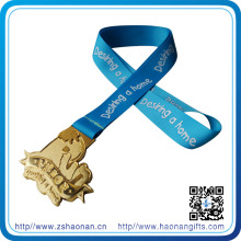 Ruban de médailles d'impression d'écran en soie de prix de sport, ruban de médaille pour le souvenir