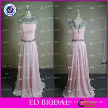 ED Bridal Chiffon Real Photo Crystal Beaded Floor Length Prom Dresses Prom Dress 2017