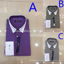 Großhandelsmänner beiläufige T-Shirts 2014 Heißer Verkauf drei Farben drehen-unten Kragen-Art und Weise überprüft die Polo-Hemden der Männer auf Lager NB0579