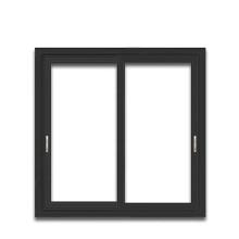 Triple slider window thermal-break powder coated aluminum sliding thermal break windows with anodized profile