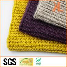 Acrylic Unisex Winter Warm Plain Yellow Basic Knitted Scarf