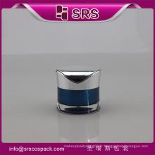J093 pot de crème acrylique en forme de radian, petit bocal cosmétique vide