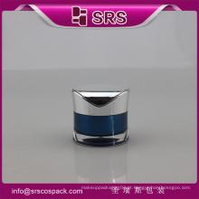 J093 radian forma acrílico creme frasco, cosmético vazio frasco pequeno