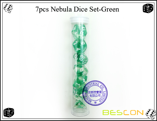 7pcs Nebula Dice Set-Green-d