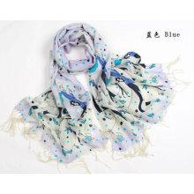 Lenço de mulher 100% Lã Pashmina Cashmere xale / Wrap floral cachecóis xales