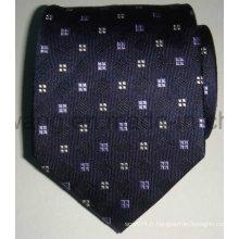 Cravate en jacquard tissée en soie pour hommes personnalisée