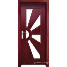 Стеклянная дверь из ПВХ (WX-PW-185)