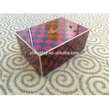 caixa de charutos de madeira de cedro espanhol de alta qualidade