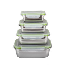 Доказательство утечки коробки для завтрака сохранности еды нержавеющей стали