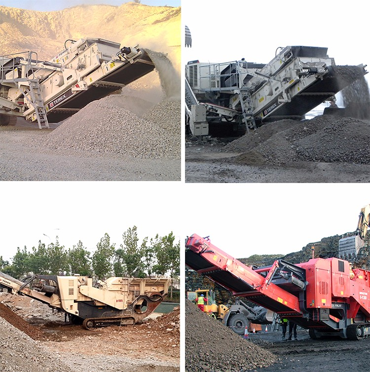 Case tracked jaw crushing plant