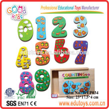 Mathe Pädagogisches Spielzeug Wooden Number Puzzle