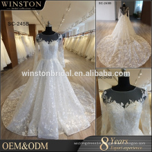 New Model Cheap Elegant long sleeve wedding dress 2017