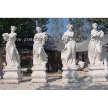Sculpture en pierre de marbre sculpture quatre saisons pour jardin (SY-X1144)