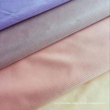 Fabric cloth manufacture new design warp knit shiny 20% spandex 80% nylon stripe fabric for bras