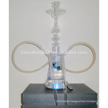 GH063-LT clear glass hookah shisha/nargile/water pipe/with led light