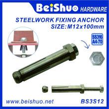 M12X100 316 Boxbolt de aço inoxidável para construção