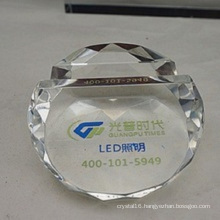 Crystal Paperweight Business Card Holder Promotion Decoration (Ks14060)