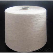 Fil 85pct de polyester / 15pct Lin 30s pour le tricotage et le tissage