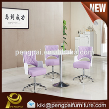 Negotiation table and simple movable leather PU chair