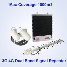 Lte 800 2100MHz de doble banda de teléfono móvil repetidor Siganl