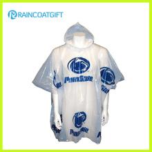 All Over Logo Impressão descartável PE Raincoat Rvc-001