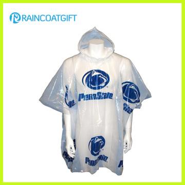Billig PE Regen Poncho Erwachsene Regen Poncho Rpe-001