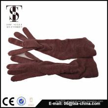 Tejido encantador caliente adorna tu guante del invierno para la señora