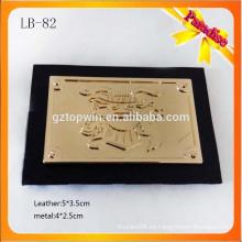 LB82 Remiendo de cuero al por mayor de la etiqueta del metal de la alta calidad para la ropa