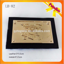 LB82 High quality metal label wholesale leather patch for clothing