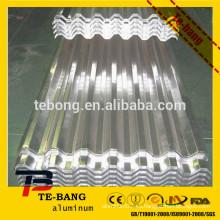 Hoja ondulada de aluminio para techos / construcción / taller