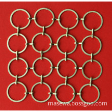 Ring Mesh In Golden Color Brass Material