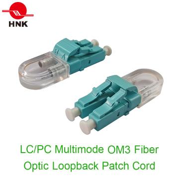 LC / PC Multimode Om3 Fiber Optic Loopback Patchkabel