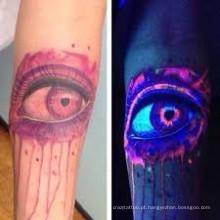 Horrificante Design exclusivo brilho cor-rápido na etiqueta escura tatuagem para festa Holloween