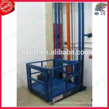 ascensor de elevación de carga de ferrocarril de guía