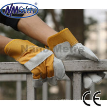 NMSAFETY grey cow split leather mining glove