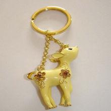 Алюминиевый сплав Lexquisite Lovely Fawn Key Ring для золотого оборудования День рождения подарок