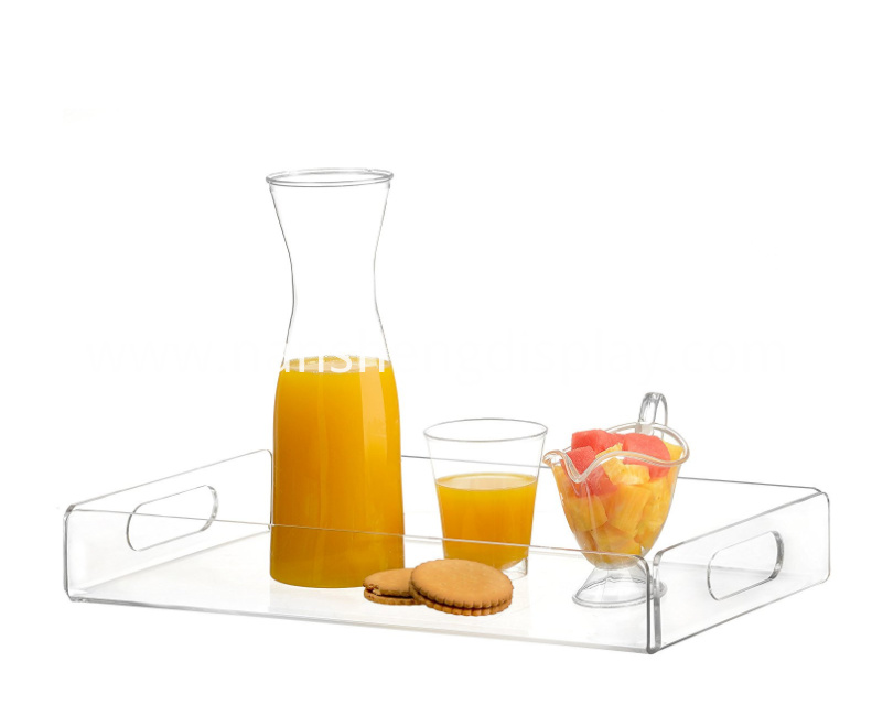 Acrylic Tea Coffee Serving Tray with Handles