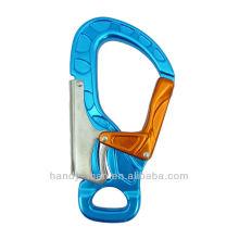 A728 Aluminum Large Keylock 30kN CE Équipement de protection industriel standard Safety Double Action Snap Hook