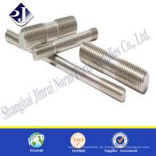 Todos os tamanhos parafuso prisioneiro aço inoxidável Parafuso de alta resistência A2-70 parafuso de aço inoxidável