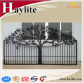 Hollow iron pipe gate grill designs for garden