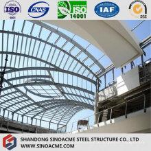 Telhado moderno da construção de aço para o edifício comercial