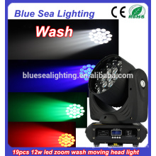 DMX 16CH stage 19pcs RGBW with zoom cheap led wash moving head