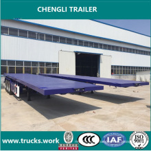 3axles portable Flat Bed Trailer Trasnportation Container Trailer