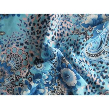Poliéster Spandex tela de impresión de gasa para la falda